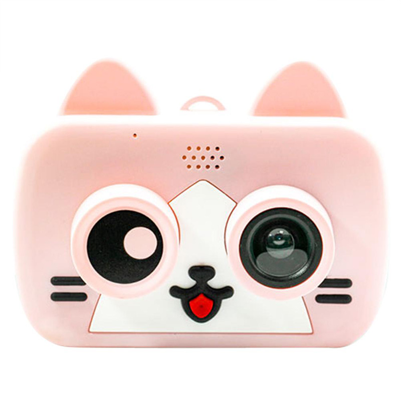 IDV 2 Inch HD Screen Rechargeable Digital Mini Camera Kids Cartoon Cute Camera Toys Outdoor Photography Props For Birthday