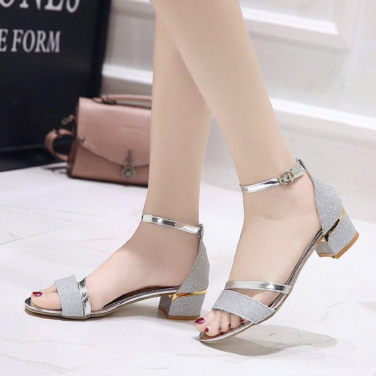 Летние женские сандалии с открытым носком; Женские сандалии на низком каблуке с пряжкой; Золотые Серебристые сандалии гладиаторы; Повседневная модная женская обувь|Боссоножки и сандалии|   | АлиЭкспресс