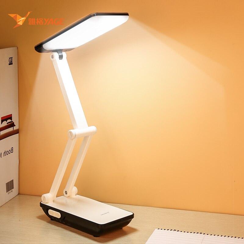 Lâmpada de mesa dobrável para estudantes 3 modos de luz 800 mah bateria recarregável 32 pçs led lâmpada de mesa de leitura candeeiros de mesa faculdade dormitório
