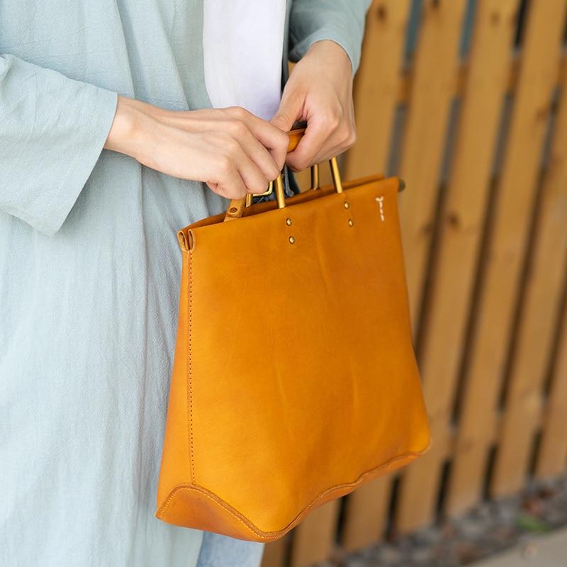 Nuevo bolso retro de cuero para mujer, bolso de hombro para mujer, bolso bandolera de cuero genuino para mujer - 2