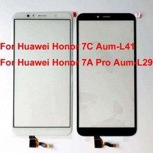 5.7 polegada para huawei honor 7c Aum L41 substituição do sensor digitador da tela de toque para honra 7a pro AUM L29 painel toque