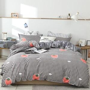 Image 4 - Juego de cama con estampado reactivo para el hogar, funda de edredón, ropa de cama, sábanas planas, 3 o 4 Uds., individual completo