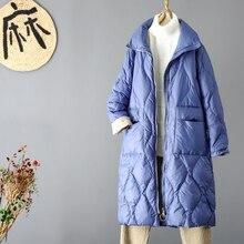 Kobieta zima wyściełany ciepły płaszcz Ultra lekka kurtka