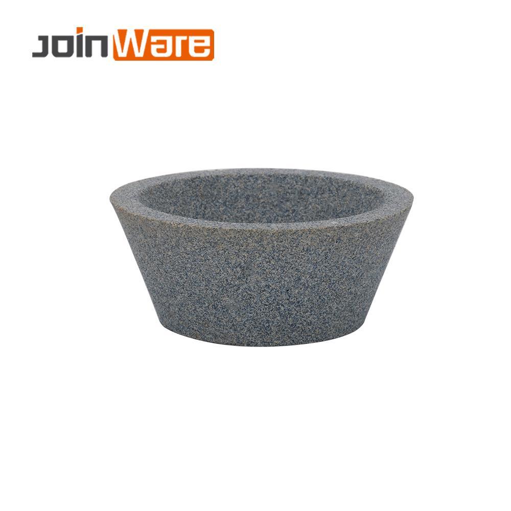 75mm Ceramic Grinding Wheel 80# Cup Shape White Brown Corundum