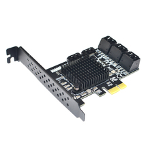 PCIE SATA III 8 יציאות בקר כרטיס PCIe 2.0x1 SATA 6G הרחבת כרטיס עם נמוך פרופיל סוגר תמיכה Win10 PCIE SATA כרטיס