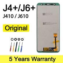 Orijinal Lcd Samsung J4 + J6 + ekran J410 J610 J415Fn toptan Samsung J4 artı Lcd ekran j4 çekirdek meclisi