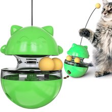 2020 new pet cat fun toy pet feeder tumbler cat shaking and leaking food ball interactive training toy magideal horse toy game ball with apple scent pet joy fun horse stable and yard toy