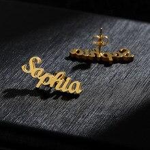 1 pair of fashion personalized custom name letter date earrings ladies custom letter earrings girlfriend jewelry mom gift