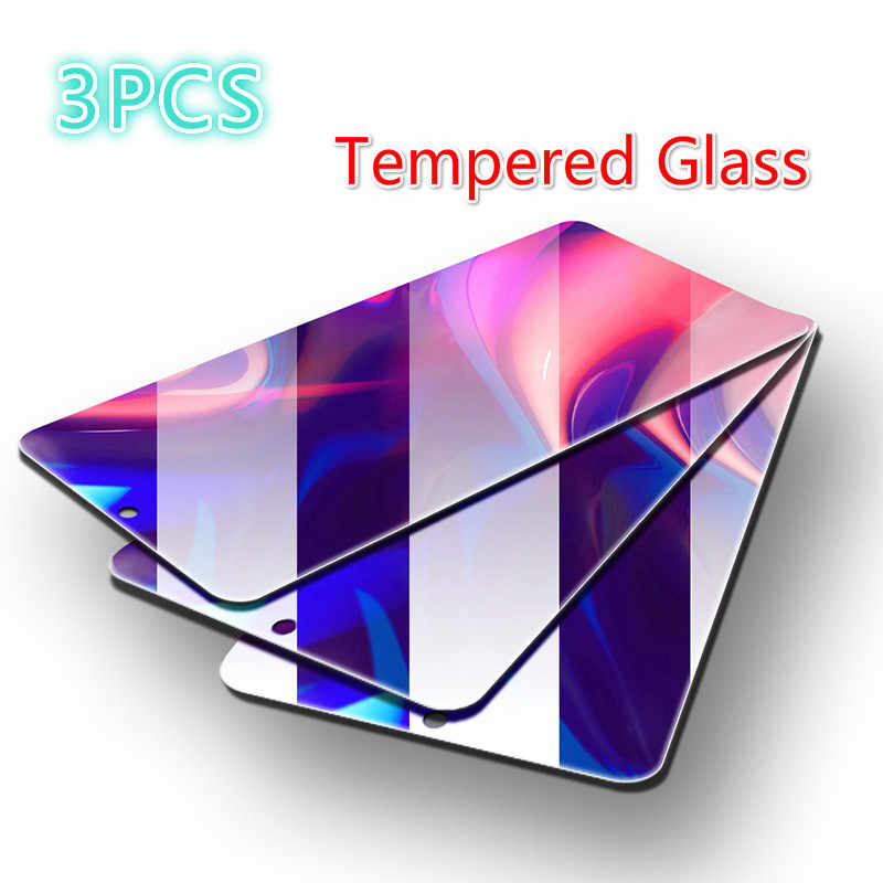 3 Pcs Tempered Glass untuk Huawei Kehormatan 10 20 Lite 8X 20i 10i Pelindung Layar Kaca untuk Kehormatan 20 8C 8A 7A 7C PRO Kaca Pelindung