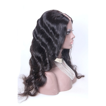 """iVogue Natural Wave U Part Wig Human Hair Long Wavy Peruvian Remy Human Hair Wigs Middle Right Left Upart 1""""x4"""" Natural Color"""