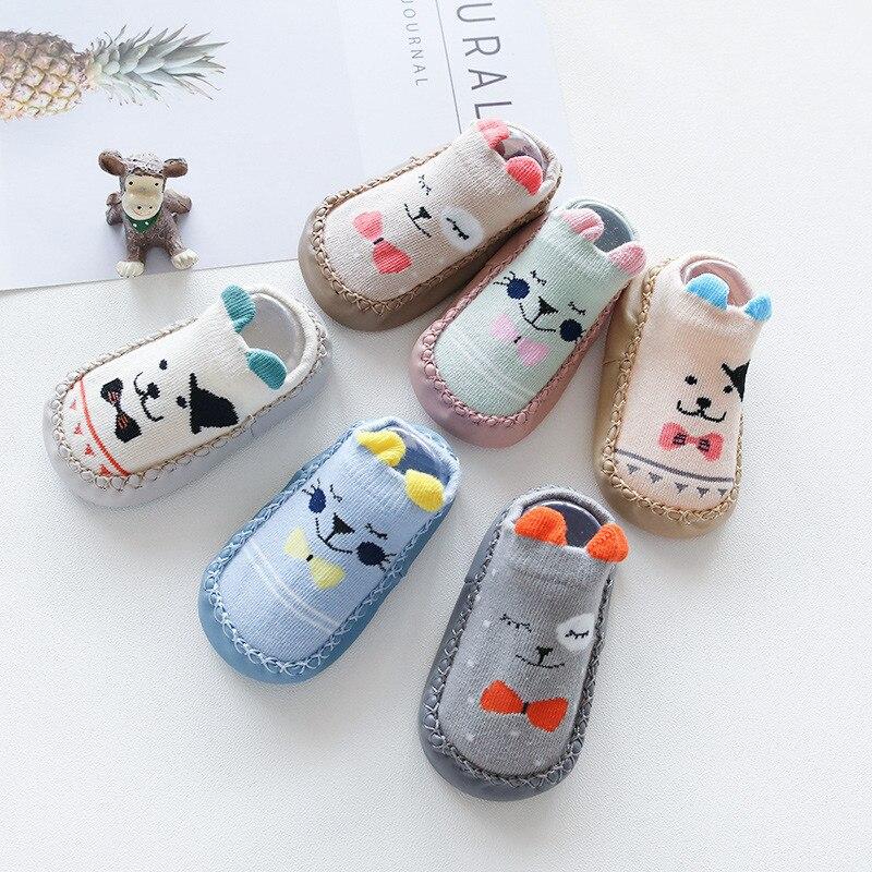 Детские носки с резиновой подошвой; обувь для девочек; носки для малышей; мягкие нескользящие носки; носки-тапочки для маленьких мальчиков;