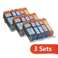 15pcs ตลับหมึกสำหรับ Canon PIXMA mp237/IP2770/MX347/MX357/MX328/MP287/MP497/mp366/MX416/PGI520 CLI521 สำหรับ PIXMA IP3600 IP4600 IP4700 MX860MX870/MP540