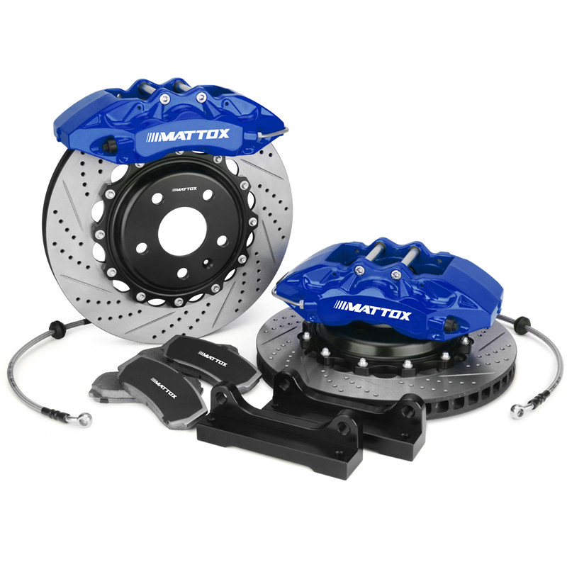 Mattox Car Brake Rotor Drilled Slotted Disc 355*32mm with 6POT Piston Caliper Brake System FOR BMW E36 M3 1993 1999