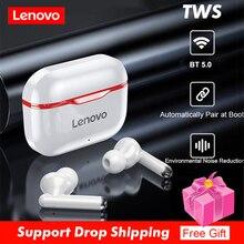 Lenovo LP1 TWS หูฟังบลูทูธ5.0หูฟังไร้สาย True Touch Control Sport ชุดหูฟัง IPX4หูฟังพร้อมไมโครโฟน
