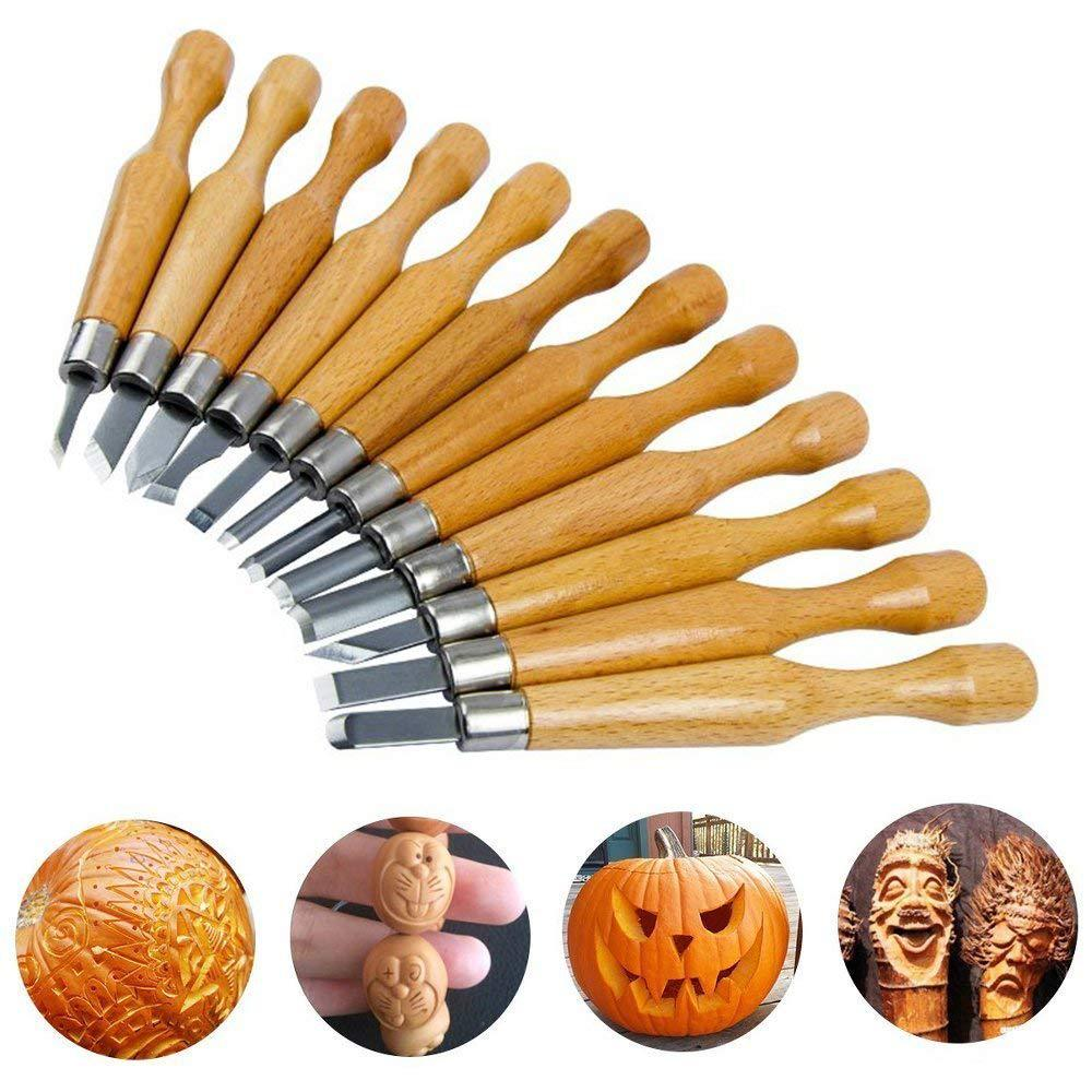 12-piece Carving Knife Handmade Wood Carving Knife / Engraving Tool / Utility Knife DIY Carving Set