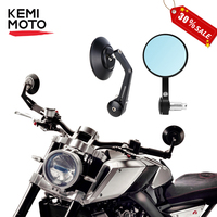 Motorcycle mirrors 13mm 18mm HandleBar Cafe Racer CNC Scooter Crusier Rear View Bar End Mirror Motorcycle Accessories