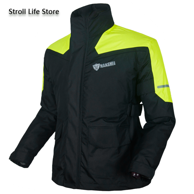 Double Layer Waterproof Rain Coat Pants Set Breathable Reflective Motorcycle Raincoat Riding Men and Women Split Thick Gift 5