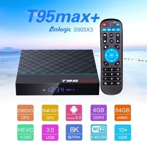 Image 2 - T95 MAX Plus Smart TV Box S905X3 64 Bit Android 9.0 4GB ROM 64GB RAM TVBox 2.4G+5G Dual band WiFi UHD 8K Media Playr PK X96 Air