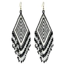 ZMZY New Boho Drop Earrings Miyuki Earring For Women Jewelry Pendientes Handmade Bead Pattern Jewellery Wholesale