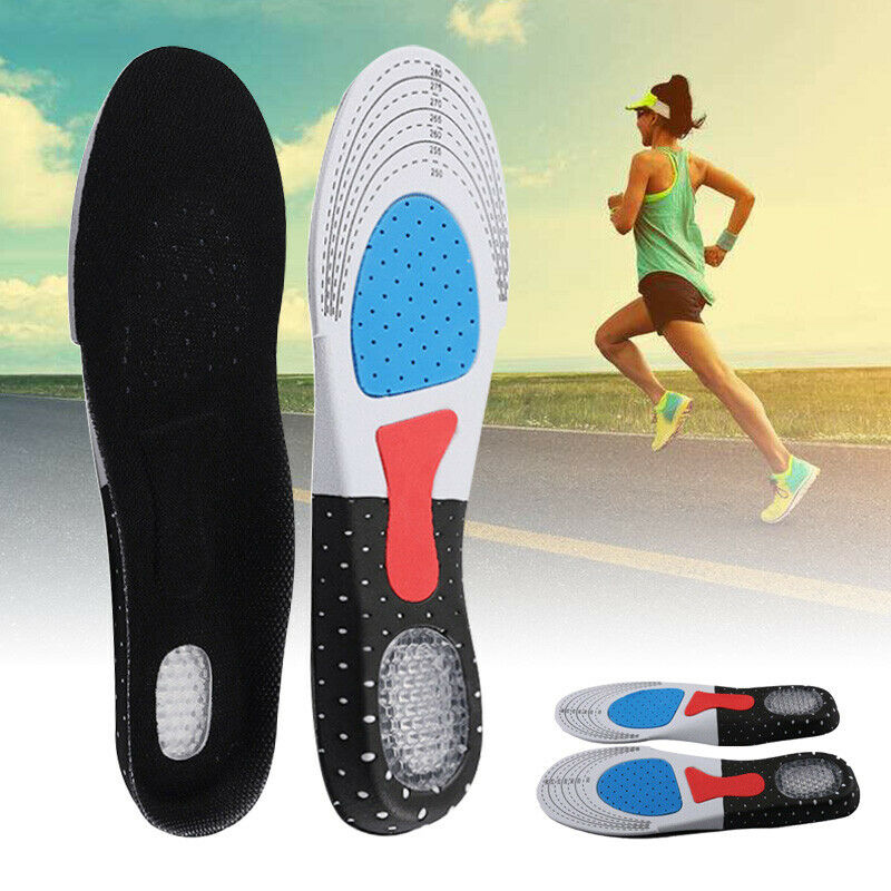 Men Gel Orthotic Sport Running Insoles Insert Shoe Pad Mat Arch Support Cushion