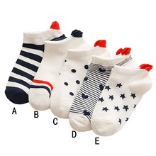2019 new fashion popular women socks casual heart-shaped cotton comfortable A0823