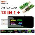 U96 13 в 1 USB Тестер Цифровой вольтметр постоянного тока амперимметр напряжение тока Вольтметр Амперметр детектор Банк питания зарядное устро...