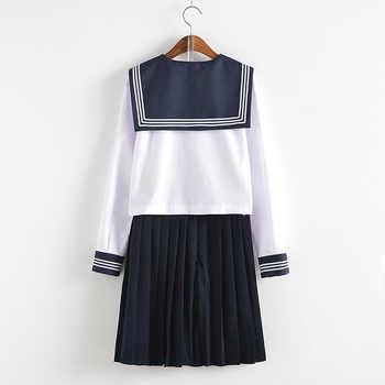 Japanese School Uniforms Bowknot JK Suits Navy Skirts Female Dresses Sailor Costumes Gray Cardigans Dress Clothes for Women