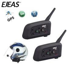 2PCS EJEAS V4 1200M 4 רוכבים אופנוע Bluetooth קסדת אוזניות אינטרקום BT אלחוטי intercomunicador האינטרפון MP3