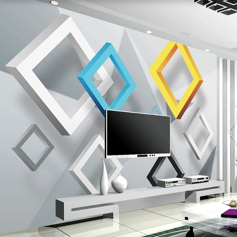 3D Abstract Geometric Murals Custom Photo Wallpaper For Walls 3D Living Room Sofa TV Background Wall Mural Wallpapers Home Decor