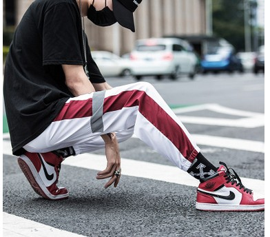 2019 Brand New Fashion Men Gym Sports Pants Hip Hop Jogging Joggers Sweatpants Trousers Casual Reflective PantsBottoms