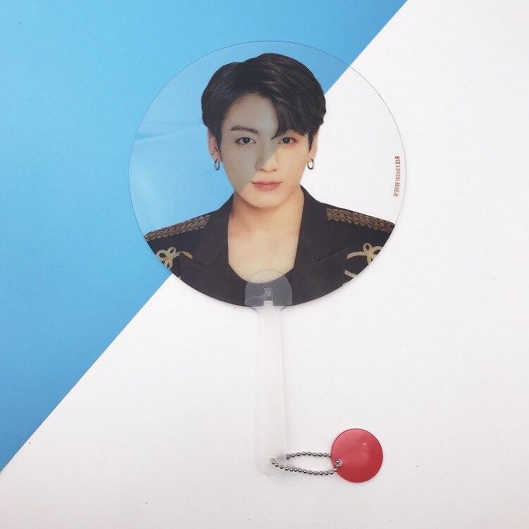 Kpop Bangtan Boys WORLD TOUR такие же полупрозрачные вентиляторы любят себя ответят на концерты те же вентиляторы 18X28 см - Цвет: JK
