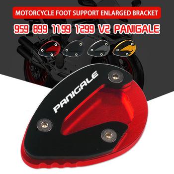 Dla DUCATI 899 959 1199 1299 V2 Panigale aluminiowy CNC do motocykla stojak boczny stojak przedłużający powiększalnik tanie i dobre opinie YOLENSE CN (pochodzenie) 0inch CNC Aluminum Stojaki 0 1kg L0210524