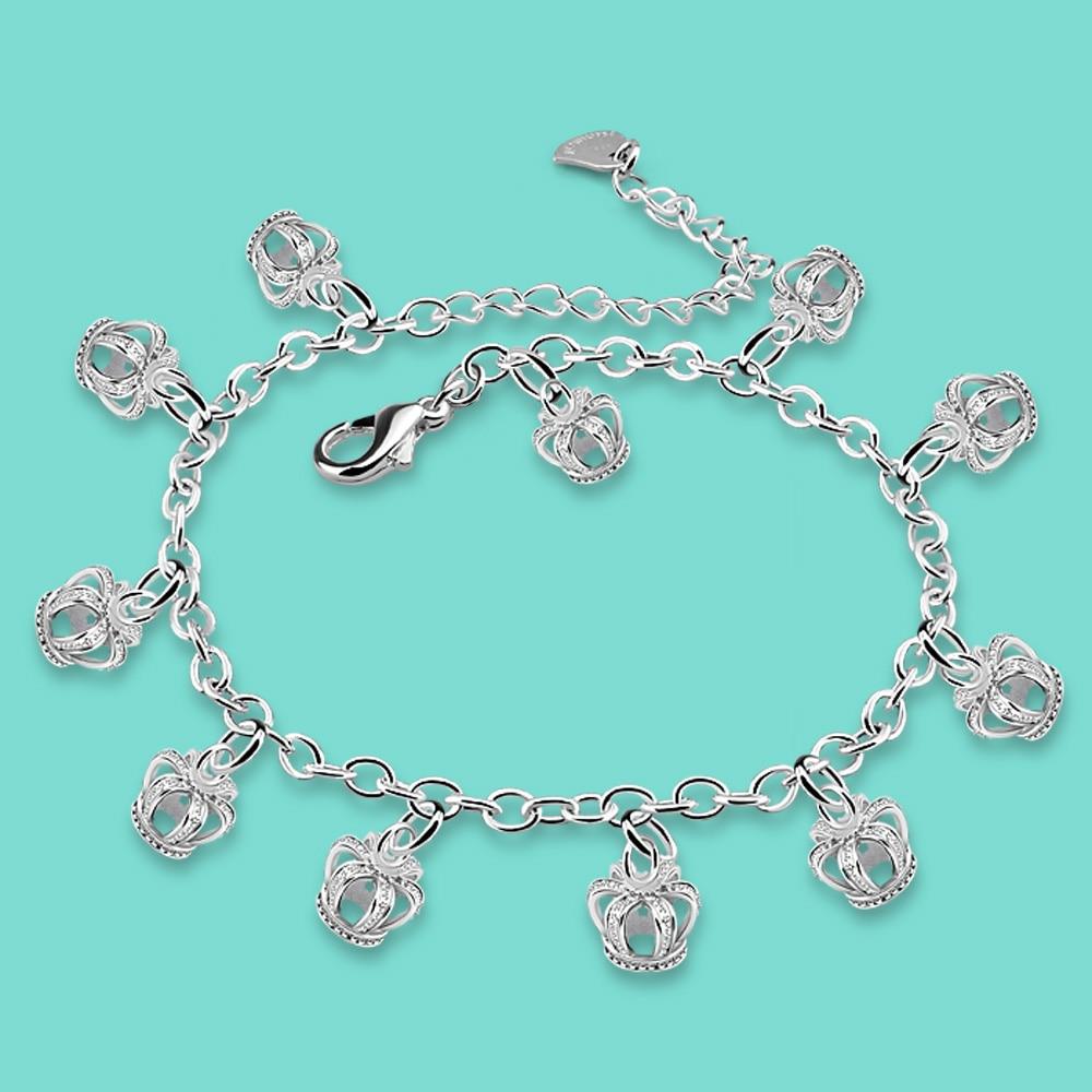 Srebrni ukras potreban ljetni srebrni lanci 925 za žene Modni krunski privjesak za stopala ukrasi srebra lijepog izrade