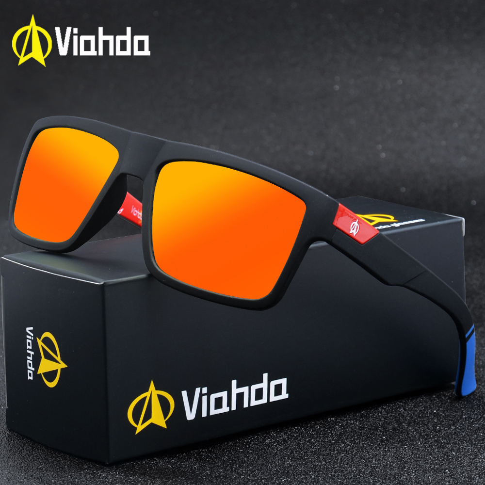 Viahda Polarized Sunglasses Men Vintage Mirror Goggles Sun Glasses For Women
