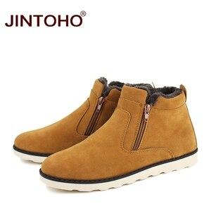 Image 3 - JINTOHO موضة جديدة الشتاء حذاء رجالي أحذية الثلوج غير رسمية رخيصة الشتاء الرجال الأحذية جلد الغزال أحذية للرجال الشتاء الدافئة أحذية رياضية