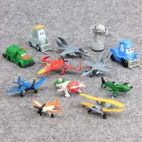 12 pcs/set Mini Planes Transformation robot Action Figures Toys 4-5.5cm Children baby kids Christmas Birthday Gift