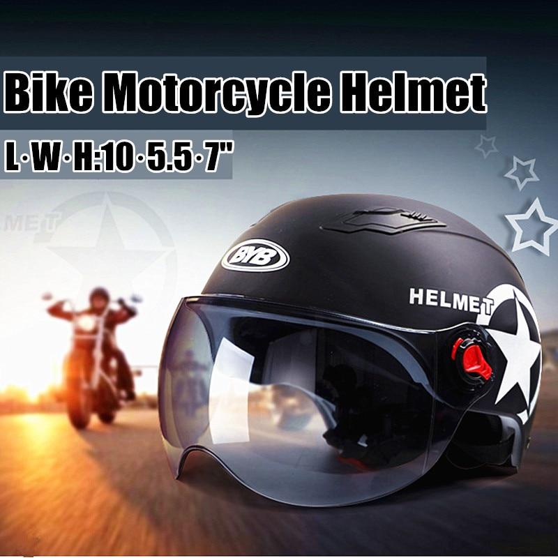 Motorcycle Helmet Scooter Bike Open Face Half Baseball Cap Anti-UV Safety Hard Hat Motocross Helmet Multiple Color Protect