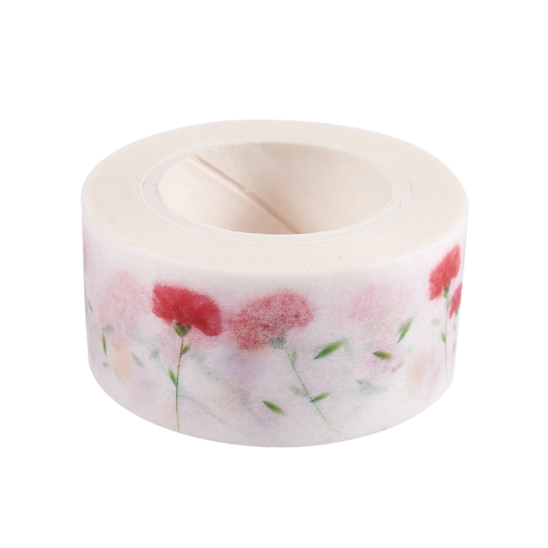 Flower Washi Tape 10M Auto Decorative Art Adhesive Sticky Paper DIY