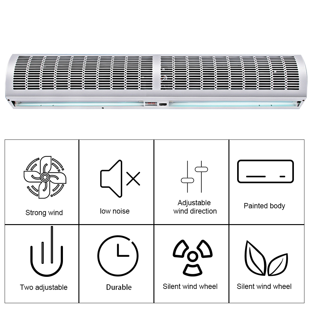 220V 600mm Air Curtain Machine For Doors And Windows Used To Isolate Hot And Cold, Mosquitoes, Dust, Exhaust, Smoke