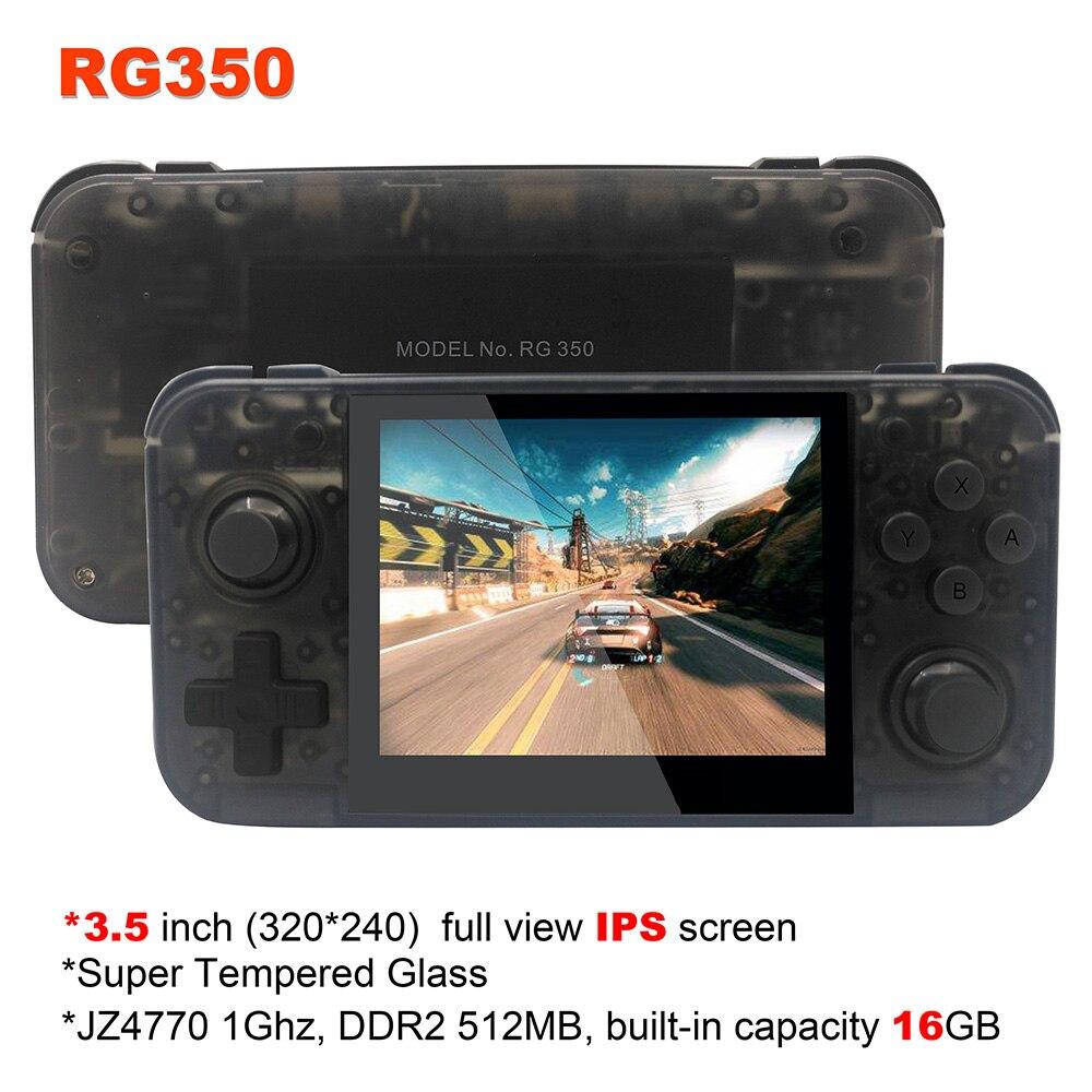 Nouveau jeu rétro RG350 jeu vidéo console de jeu portable MINI 64 bits 3.5 pouces IPS écran 16G + 32G TF jeu joueur RG 350 PS1