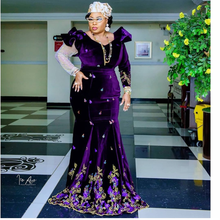 Good Quality Classic Liser Embroidery Velvet With Sequince stones Fabric Lace For Evening Dress NN277_a