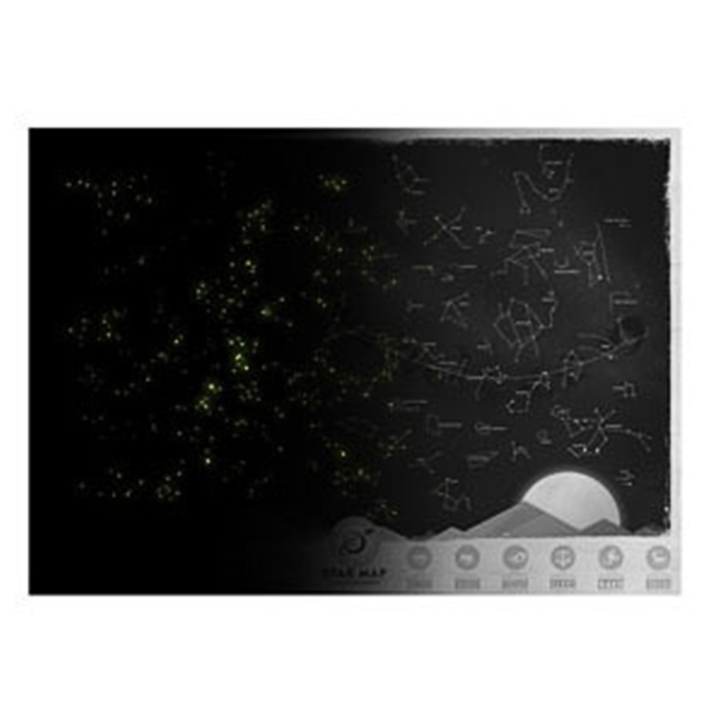 Novelty Design Home Decorative Star Map Glow In  Night Sky Star Zodiac Chart  Sticker For Wall Closet