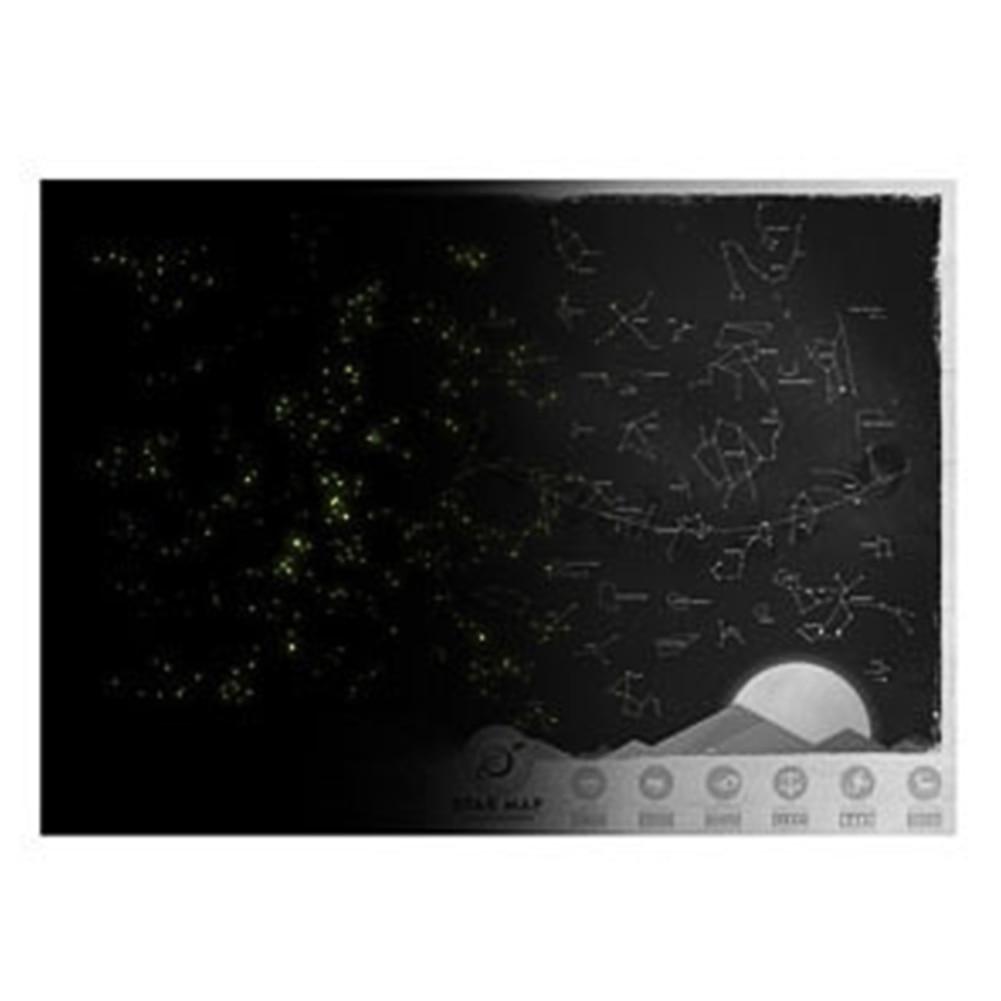 Novelty Design Home Decorative Star Map Glow In  Night Sky Star Zodiac Chart  Sticker For Wall Closet