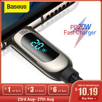 Cavo USB tipo C Baseus 20W PD per iPhone 12 11 Pro Xs Max caricabatterie a ricarica rapida per MacBook iPad Pro tipo-c cavo dati USBC