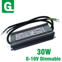 0 10V Dimmable LED Driver 30W Waterproof Dimming Transformer DC 27 42V 950mA Power Supply For DIY 30 W Watt LED