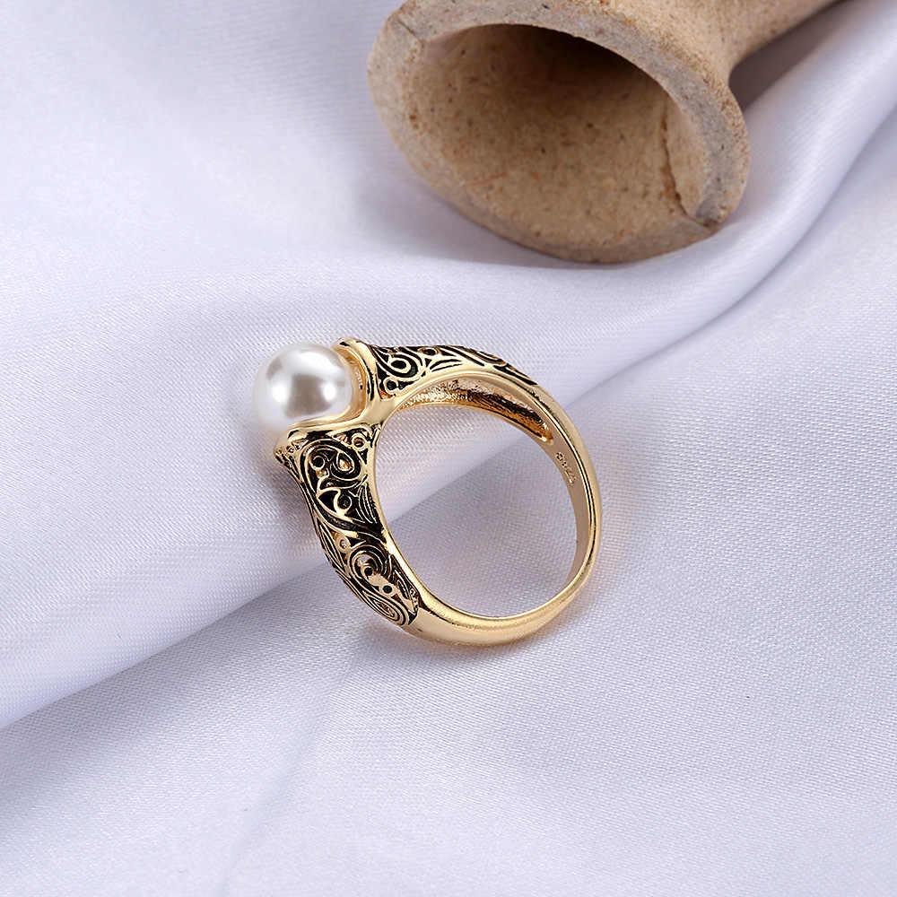 1 предмет, модные женские винтажные свадебные жемчужные Золотое кольцо бижутерия ювелирные изделия кольцо King дарит подарок; Женские вечерние свадебные туфли большие жемчужные Ri