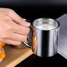 200 мл двухслойная Изолированная Толстая чашка из нержавеющей