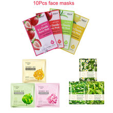 HOREC 10Pcs plant Emulsion facial Masks Anti-Aging Moisturizing Oil-control Plant flowers disposable face Mask skin care перфоратор sds plus вихрь п 800к в 800 вт
