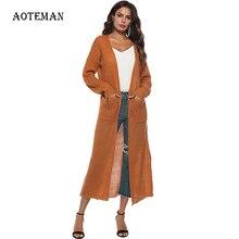 ฤดูใบไม้ร่วงฤดูหนาวเสื้อกันหนาวผู้หญิง หลวมถักเสื้อสเวตเตอร์ถัก แฟชั่นสบายๆสีชมพูเสื้อแจ็คเก็ตหญิง 2019