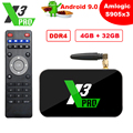 ТВ-приставка X3 Cube, ТВ-приставка Amlogic S905X3 на базе Android 9,0, 2 Гб DDR4, 16 ГБ, X3 Pro, 4 Гб, 32 ГБ, X3 Plus, 64 ГБ, смарт-медиаплеер 2,4 ГБ, Wi-Fi, 4K, телевизионная приста...